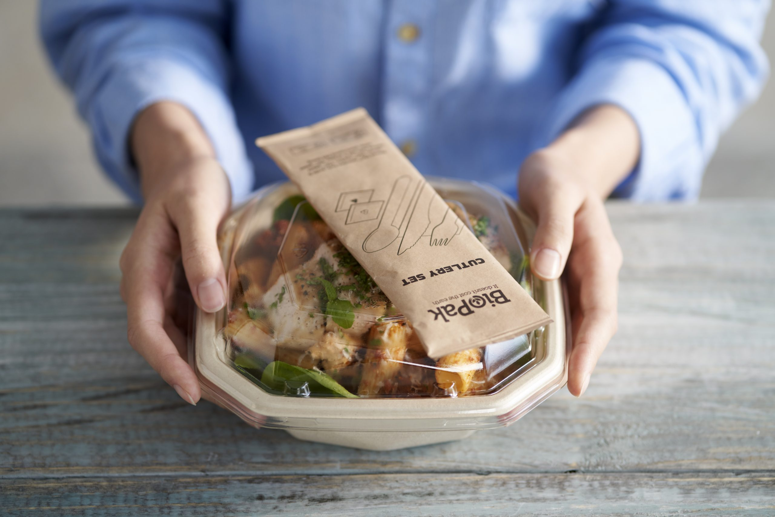 Pack biodegradable para delivery